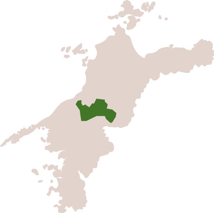 イメージ:愛媛県喜多郡内子町の位置